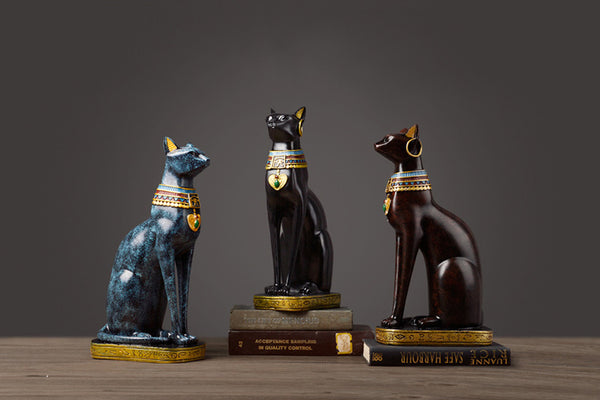 Egyptian Cats Sculptures - fourline design