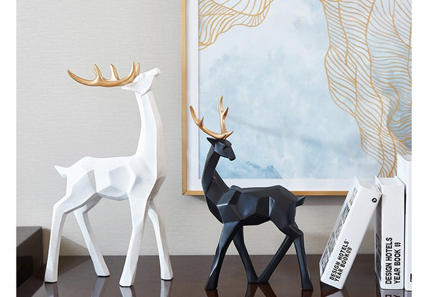 Golden Antlers Deer Figurines - fourlinedesign