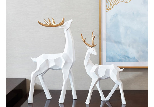Golden Antlers Deer Ornaments - fourlinedesign