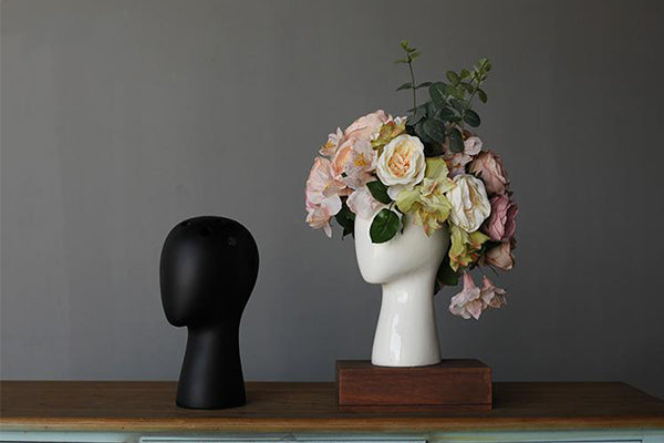 Head Shaped Flower Vase | Home Decor - Fourline Design