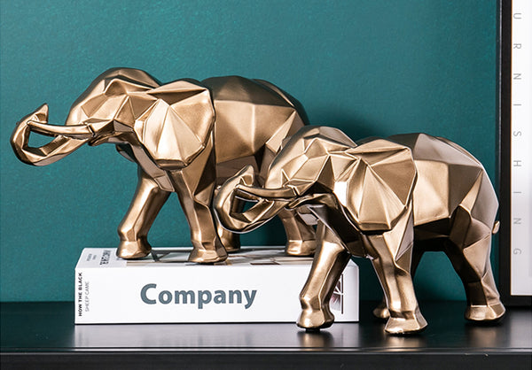 Golden Elephant Centerpieces - fourlinedesign