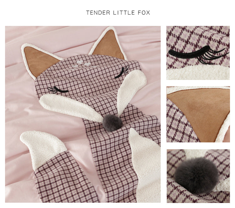 Foxy Cotton Bedding Set - fourlinedesign