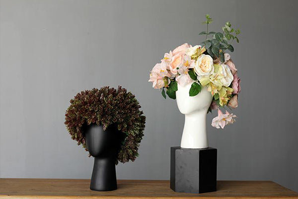 Modern Head Shaped Flower Vase - fourlinedesign