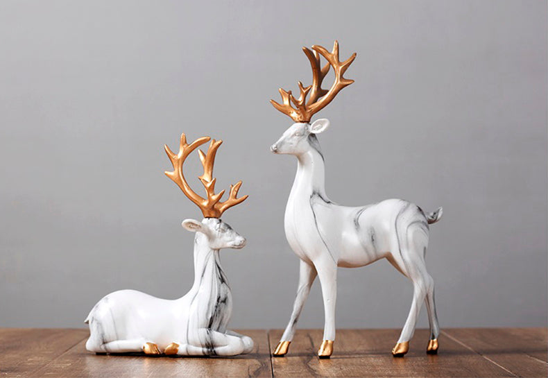 White Elks Figurines - fourline design