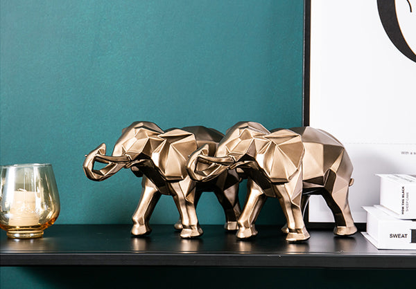 Golden Elephant Centerpieces - fourline design