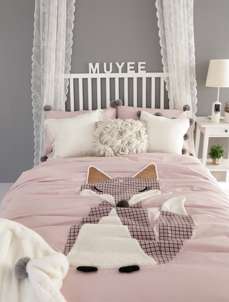 Foxy Cotton Bedding Set - fourline design