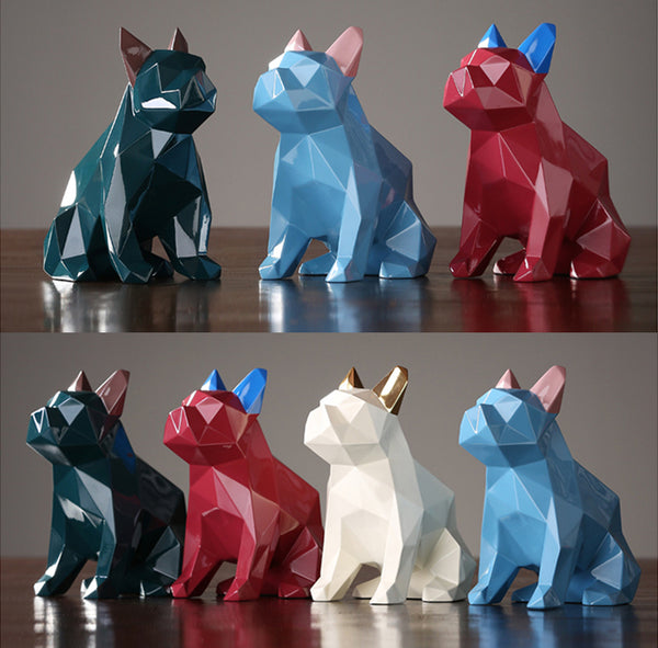 Designer Geometric Bulldogs Home Accents - fourline design