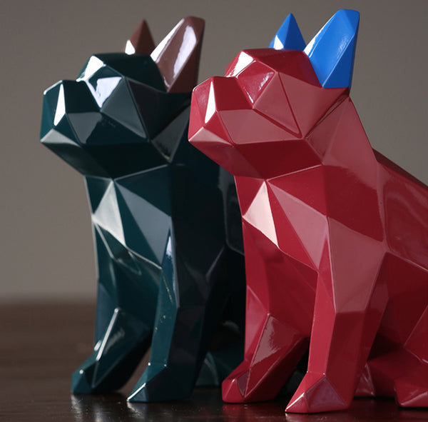 Designer Geometric Bulldogs Centerpieces - fourline design
