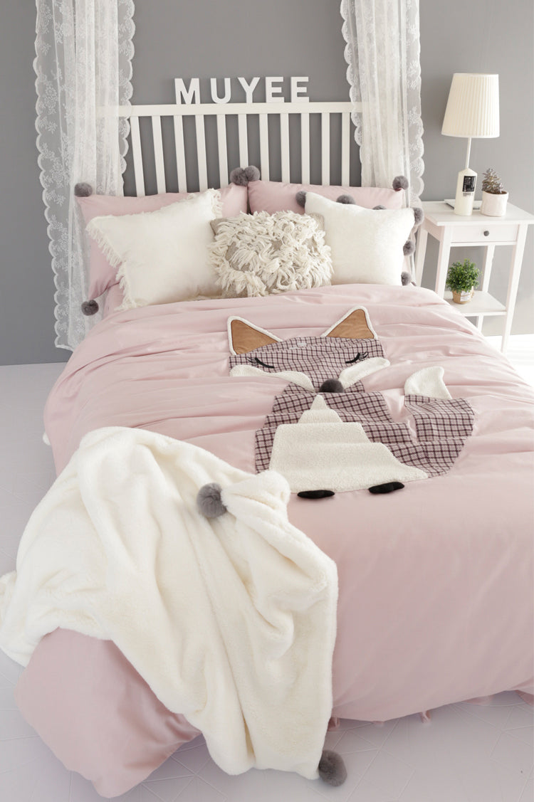 Foxy Satin Bedding Set - fourline design