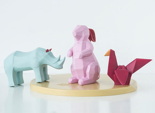 Geometric Origami Animals Centerpieces - fourline design