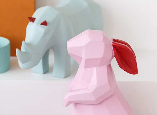 Geometric Origami Animals Home Decor - fourline design