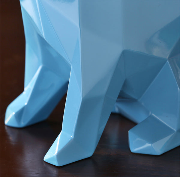 Designer Geometric Bulldogs Figurines - fourline design