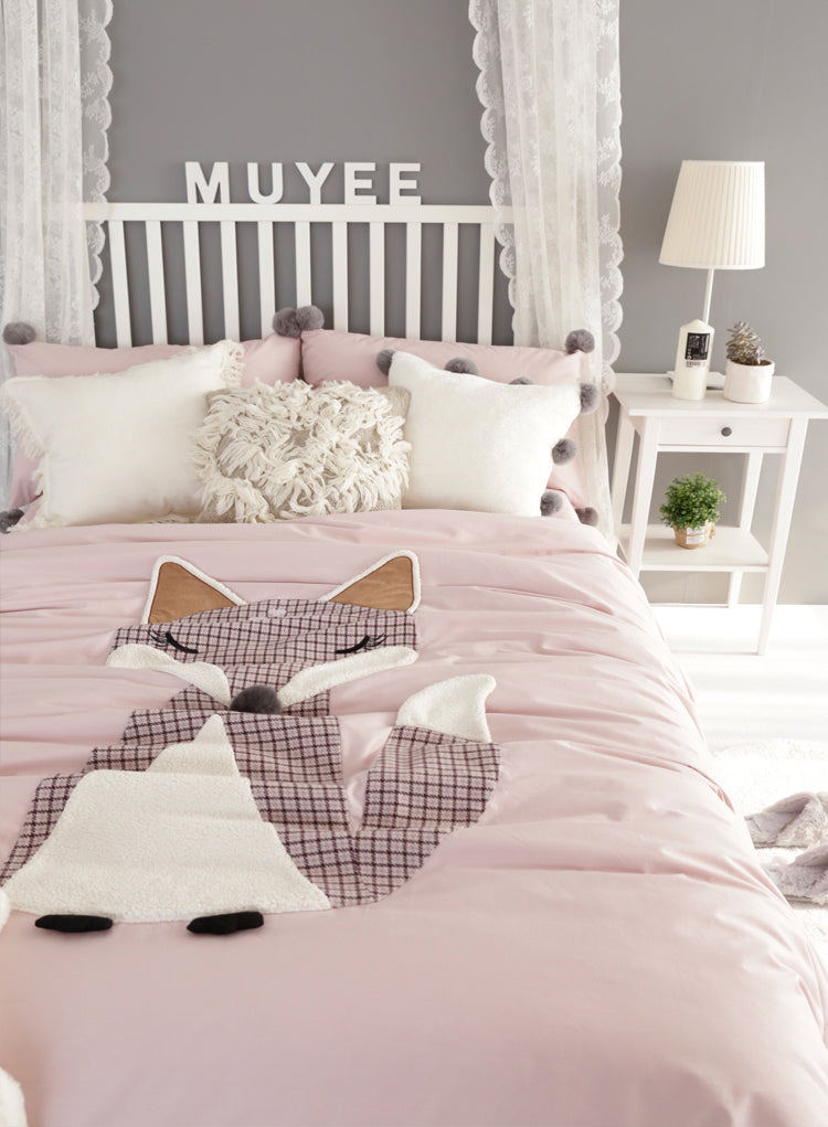 Foxy Bedding Set Queen Size - fourline design
