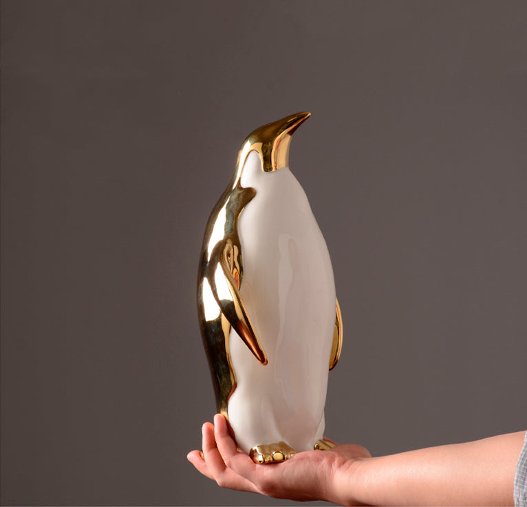 Golden Penguins Family Home Accents - fourlinedesign