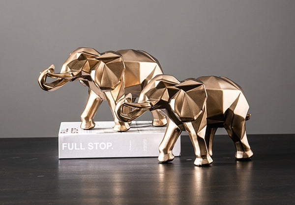 Golden Elephant Sculptures - fourlinedesign