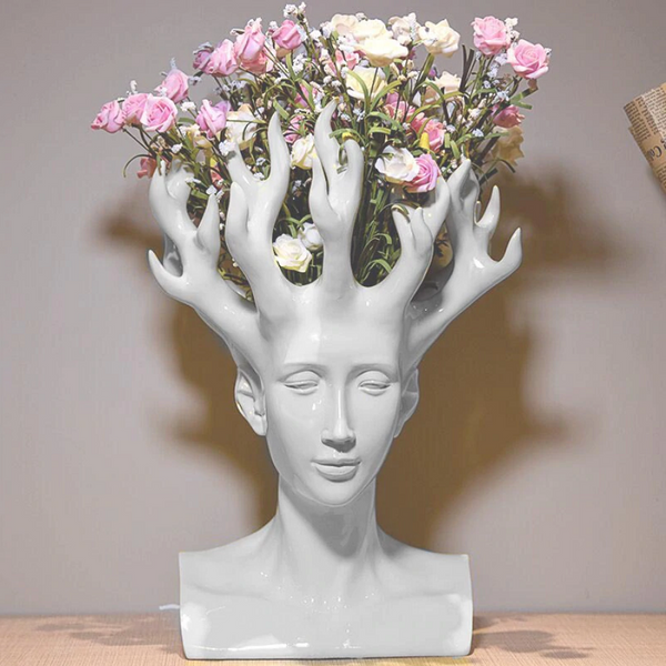 Mali Head Flower Vase | Home Decor - fourline design