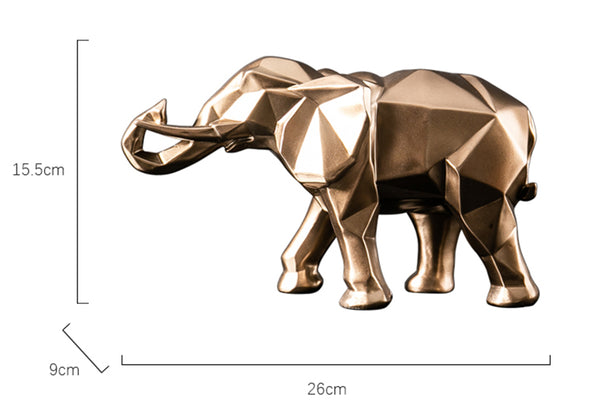 Golden Elephant Sculptures - fourline design