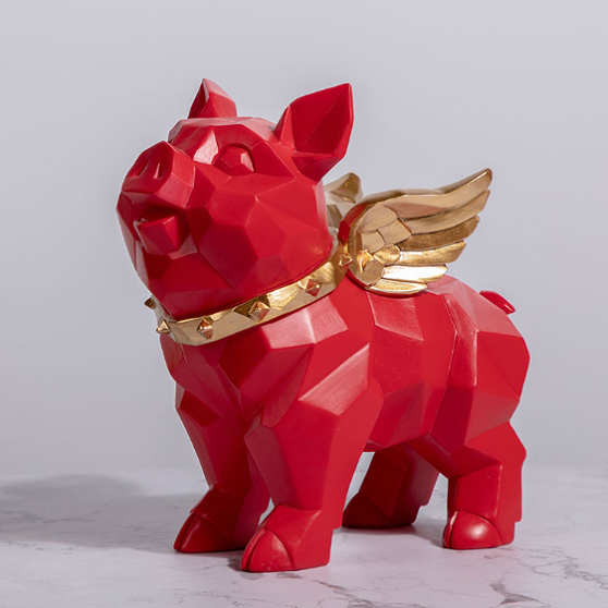 Masa Geometric Angel Piglets Ornaments - fourlinedesign