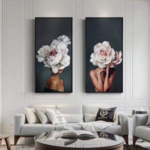 Flower Lady Wall Art - fourlinedesign