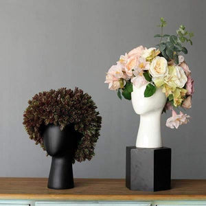 Head Shaped Flower Vase - Fourline Design