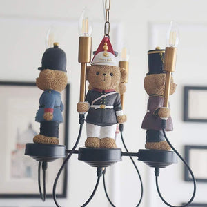 Soldier Bears Chandelier