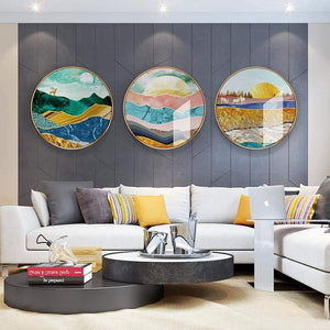 Areal Round Wall Art - fourlinedesign