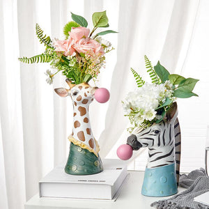 Cute Animals Flower Vase