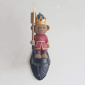 British Soldiers Bear Wall Lamp