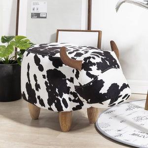 Wiley Cow Pouf