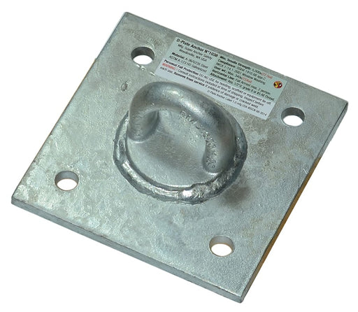 Super Anchor Safety CRA D-Plate Anchor 6x6 D-Plate with 1090 Loop top (1037G)