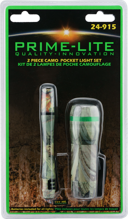 Primelite 2 Piece Camo Pocket Light Set - 24-915
