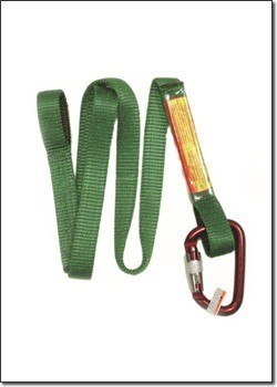 "18"" Web Lanyard w/ Carabiner & Loop End # 6009"