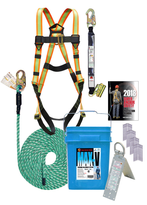 Super Anchor MAX-V 50ft. Fall Protection Kit
