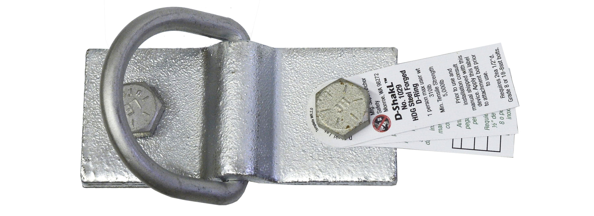 Super Anchor D-ShakL Shackle Safety Anchor with 180-Degree rotating D-Ring - 1029