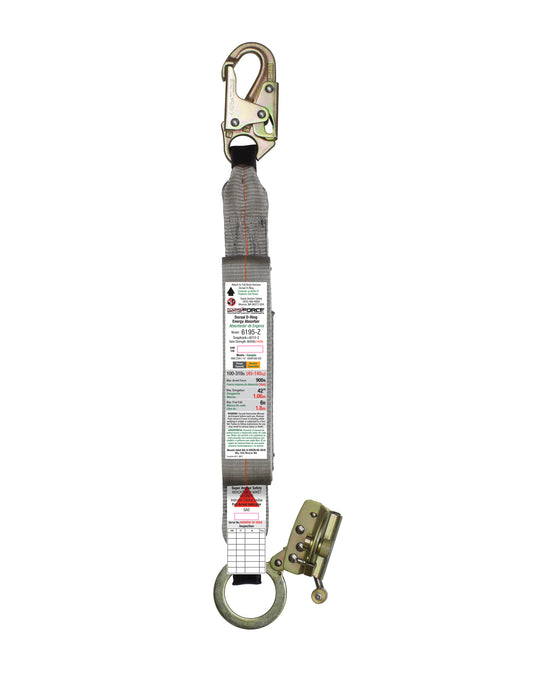 Super Anchor MAX Force Absorber with Snap Hook & ADP Rope Grab Zinc 6195-Z