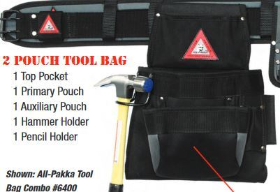 2 Pouch Tool Bag # 6452