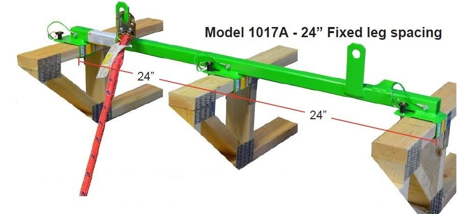 "2x4 Floor Joist Safety Bar - 24""OC x 48"" Length # 1017A"