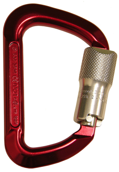 Gate Super Anchor Safety 5006-Z Auto-Lock Aluminum Carabineer with 3600 lb Gate