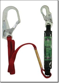 "72"" Energy Absorbing Web Lanyard w/ Snaphook & Rebar Hook # 6040"
