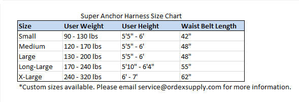 Super Anchor Deluxe 3D Harness 6201