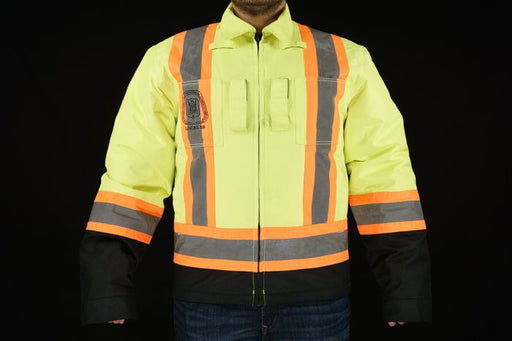 Zepps Gear Hi-Vis Tear-Away Flap Jacket - Over Harness Jacket