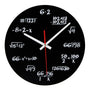 Wall Clock Maths Equation Design