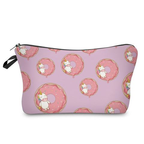 Donuts & Unicorns Pattern Cosmetic Bag