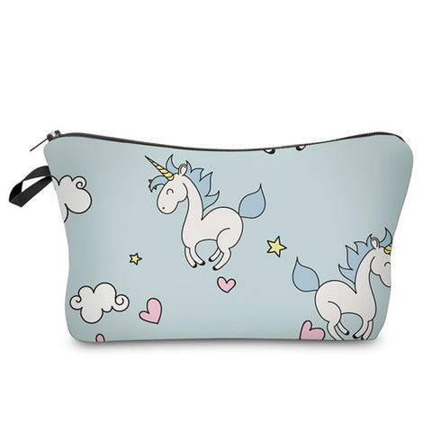 Jumping Unicorns Cosmetic Bag