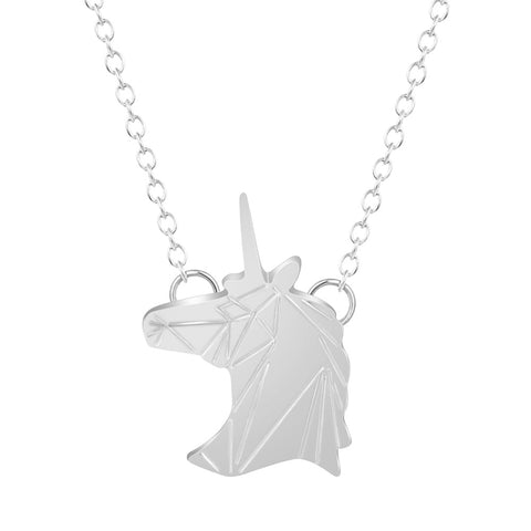 Solid Unicorn Head Necklace