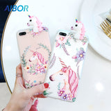 Floral Unicorn Case for iPhone