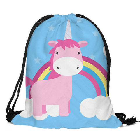 Drawstring Unicorn Bag H