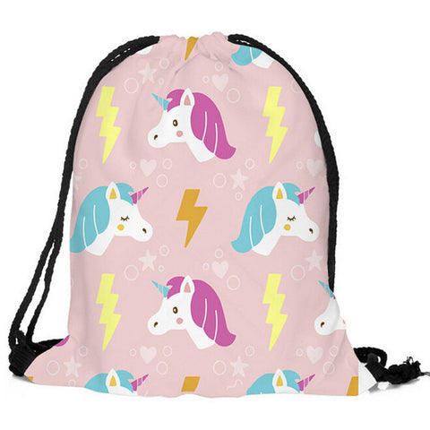 Drawstring Unicorn Bag I