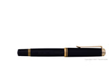pelikan souveran fountain pen 18k 750 nib gold rhodium piston fill nib m800 black closed