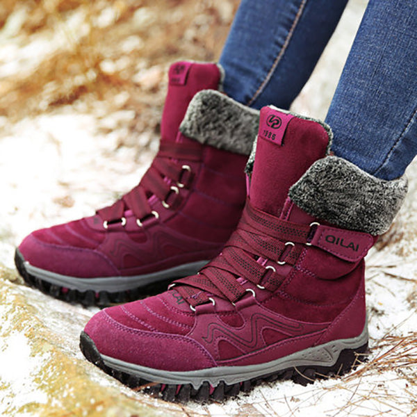 Women Casual Comfortable Lace-up Warm Snow Boots
